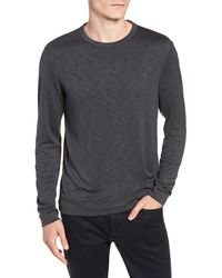 Theory Gaskell Slim Fit Long Sleeve T-shirt - Gray