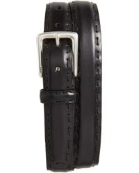 John Varvatos - Pickstitch Feather Edge Leather Belt - Lyst