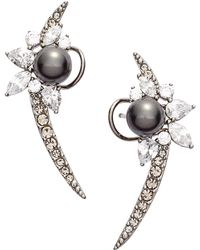 Nadri - 'pearl Essence' Cubic Zirconia Ear Crawlers - Lyst
