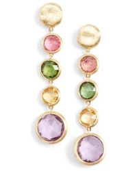 Marco Bicego - 'jaipur' Semiprecious Stone Linear Earrings - Lyst