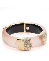 Alexis Bittar Lucite Crystal Encrusted Bangle Bracelet Sunset