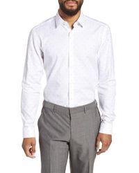BOSS - Isko Slim Fit Dot Dress Shirt - Lyst