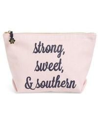Draper James - Strong Sweet & Southern Canvas Clutch - Lyst