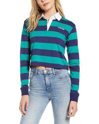 Dickies - Stripe Crop Rugby Shirt - Lyst
