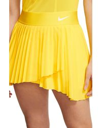 Nike Court Dri-fit Elevated Victory Tennis Skirt - Yellow