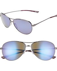 Smith - 'langley' 60mm Aviator Sunglasses - Ruthenium/ Violet - Lyst
