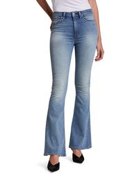 Hudson Jeans Holly High Waist Flare Jeans - Blue