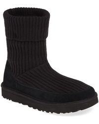 a549ff401fd UGG Wool Saela Rib-knit Cuff Pure(tm) Lined Boot in Natural - Lyst
