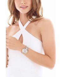 Michele Sidney Chronograph Diamond Watch Head - Metallic