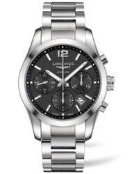 Longines - Conquest Automatic Chronograph Bracelet Watch - Lyst