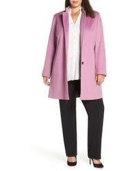 Fleurette - Inverted Collar Loro Piana Wool Coat - Lyst