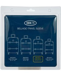 Bric's Transparent Custom Cover For 27-inch Bellagio Spinner Trunks - Blue