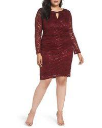 Marina - Lace Sheath Dress - Lyst
