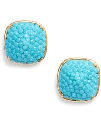 Kate Spade - Pavé Small Square Stud Earrings - Lyst