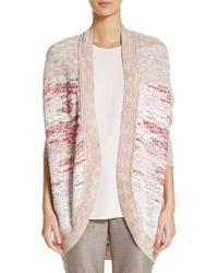 St. John | Ombre Textured Jacquard Knit Cardigan | Lyst