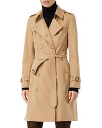Burberry The Chelsea Slim Fit Heritage Trench Coat - Natural