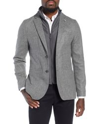 Ted Baker - Dual Look Herringbone Jacket - Lyst