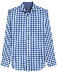 Bugatchi - Classic Fit Buffalo Check Sport Shirt - Lyst