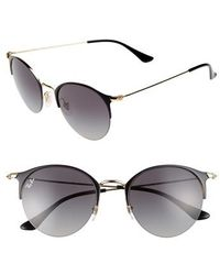 Ray-Ban - 50mm Blaze Clubmaster Mirrored Sunglasses - Lyst