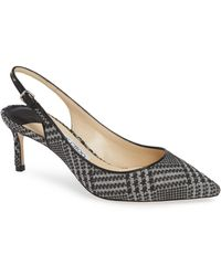 8ab8f428460d Jimmy Choo - Erin 60 Stone And Black Prince Of Stars Flannel Slingback Pumps  - Lyst