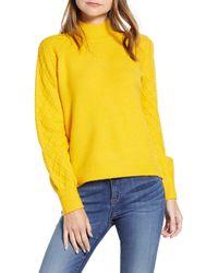 Caslon - Caslon Mix Stitch Turtleneck Sweater - Lyst
