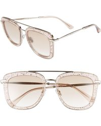 471f9984a092 Stella McCartney Square Glasses - Nude in Gray - Lyst