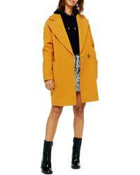 TOPSHOP Carly Coat - Yellow