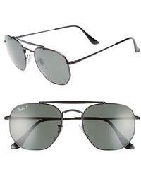 Ray-Ban - Marshal 54mm Polarized Aviator Sunglasses - Lyst