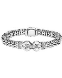 Lagos - 'derby' Caviar(tm) Diamond Rope Bracelet (online Only) - Lyst