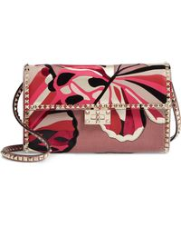 Valentino - Patchwork Butterfly Leather & Textile Shoulder Bag - - Lyst