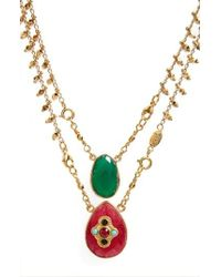 Gas Bijoux | Scapulaire Convertible Semiprecious Stone Necklace | Lyst