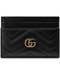 Gucci - Gg Marmont Matelasse Leather Card Case - Lyst