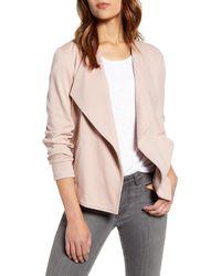 Caslon Caslon Drape Collar Knit Blazer - Pink
