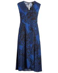 Zero + Maria Cornejo - Ribbon Print Stretch Silk Dress - Lyst