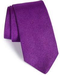 Gitman Brothers Vintage Solid Silk Tie - Purple