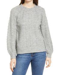 Wit & Wisdom Ruffle Neck Sweater - Gray