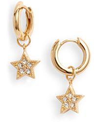 Olivia Burton Celestial Star Charm Huggie Hoop Earrings - Metallic