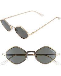 Quay - Purple Honey 48mm Geo Sunglasses - Lyst