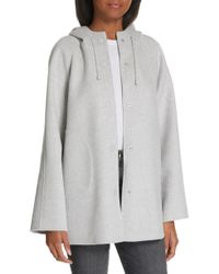 Nordstrom - Hooded Double Face Jacket - Lyst