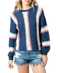 Rip Curl Keep On Surfin Stripe Sweater - Blue