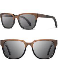 f84cc93e7e5 Shwood -  prescott  52mm Titanium   Wood Sunglasses - Bronze Titanium   Black