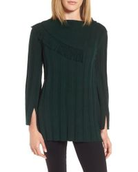 Chaus   Fringe Cowl Neck Sweater   Lyst