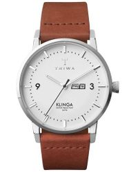 Triwa - Snow Klinga Leather Strap Watch - Lyst