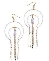 Nakamol - Freshwater Pearl Arch Frame Statement Earrings - Lyst