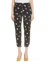 Ted Baker - Flisie Colour By Numbers Floral Print Jogger Pants - Lyst