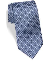 Nordstrom Check Silk Tie - Blue