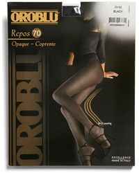 Oroblu 'repos 70' Opaque Control Top Support Tights - Black