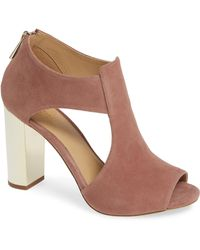 f84f8e486295 Lyst - MICHAEL Michael Kors Paloma Suede Platform Dress Sandals in Red