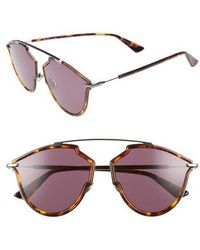 d0674edc3e9 Lyst - Dior Christian Overshine 2 s Sunglasses in Metallic