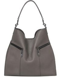 Botkier Trigger Pebbled Leather Hobo - Gray